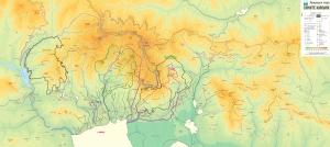 Карта на Природен парк  Сините камъни